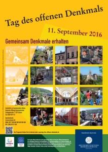Tag des offenen Denkmals 2016 - Plakat